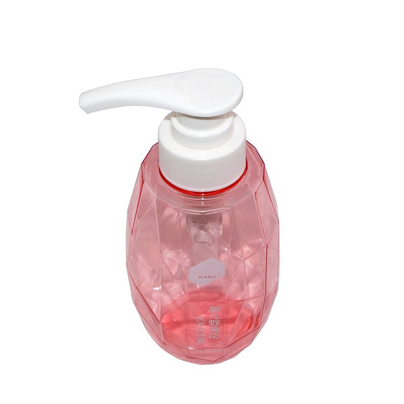 Modern style PETG plastic shampoo bottle with lotion pump+CPPETGRBT042032034000014YM