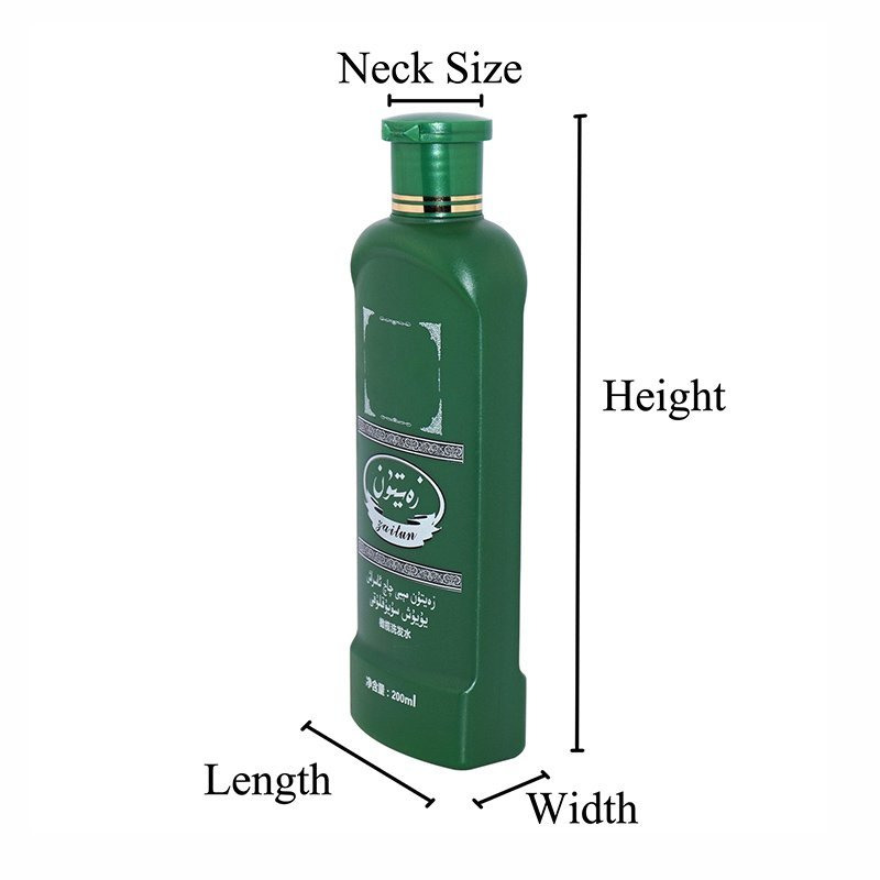 250ml HDPE Opaque Green Plastic Cosmetic Bottle With Silk Screen Printing With Flip Top Cap For Care Products+CPPE00RSS026024025