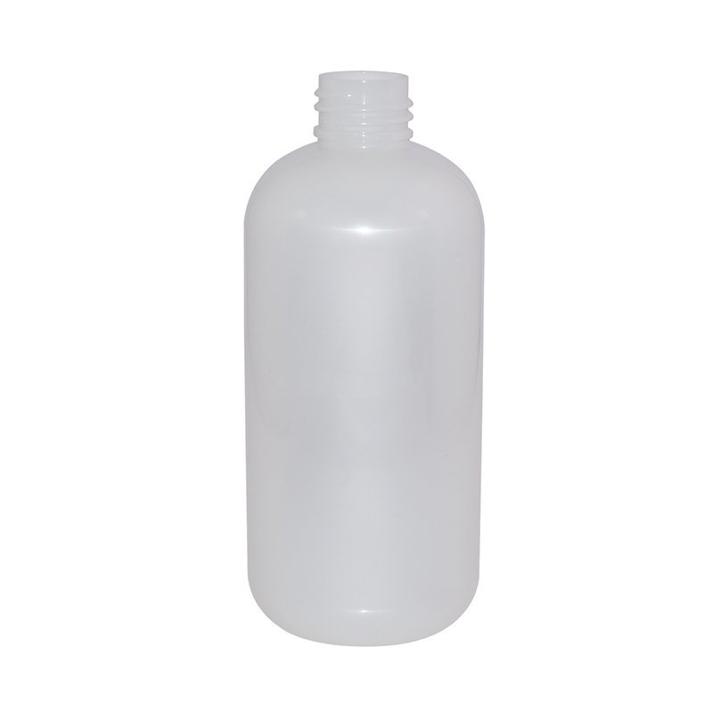250ml to 265ml Boston Round White Plastic PET Bottle With 24mm Black Mist Sprayer+CPPET0RQT007020005500014XN