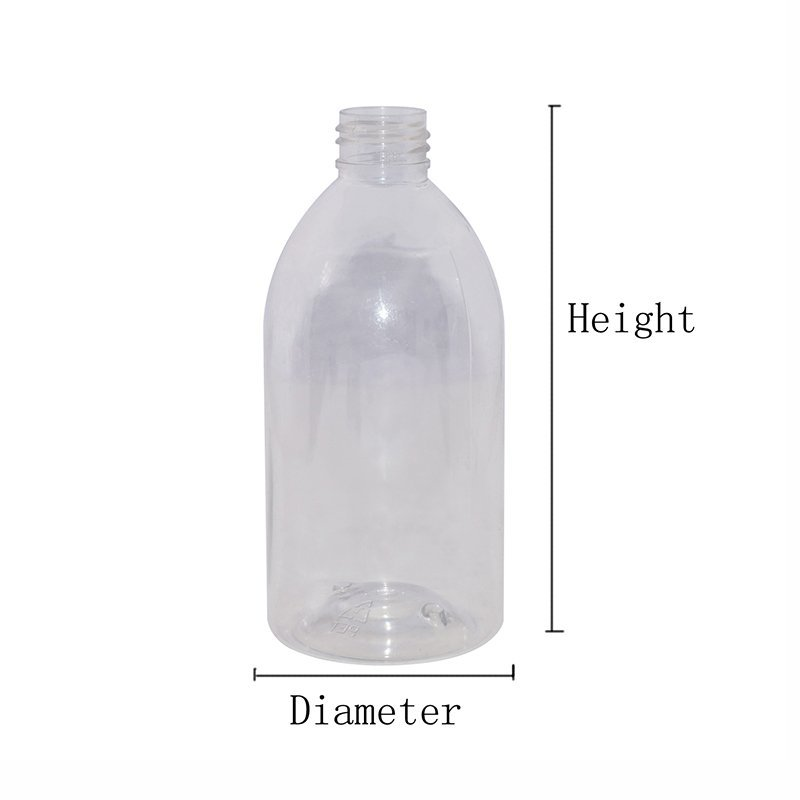 250ml Round Clear Plastic PET Customized Bottle With Mini Trigger Sprayer+CPPET0RQT025024027400024YM