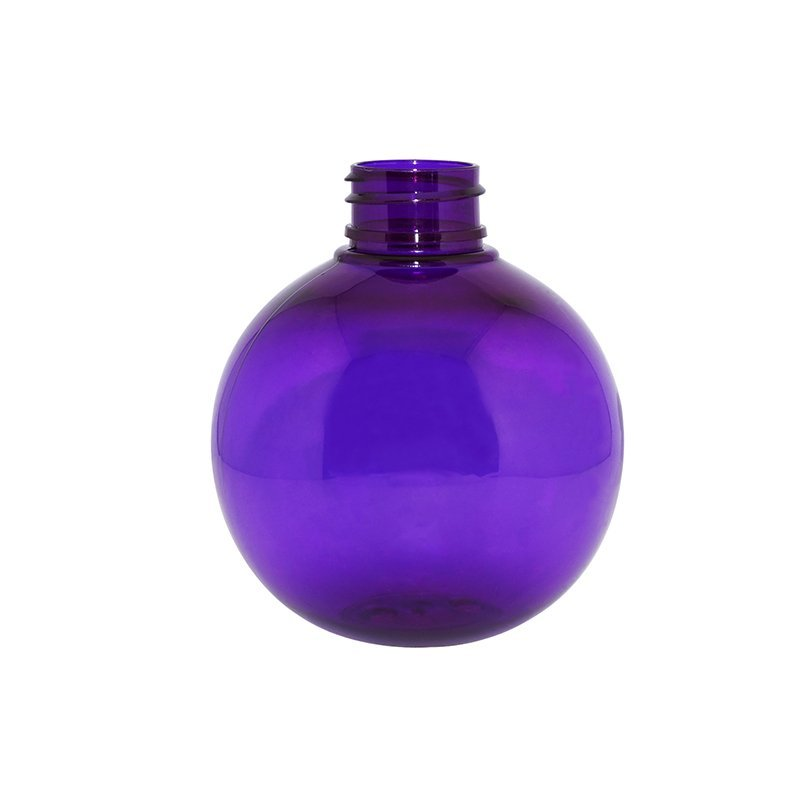 250ml Semi-transparent Purple Ball Shaped Plastic PET Bottle For Lotion Cream Packaging+CPPET0RBT022028027700129YM