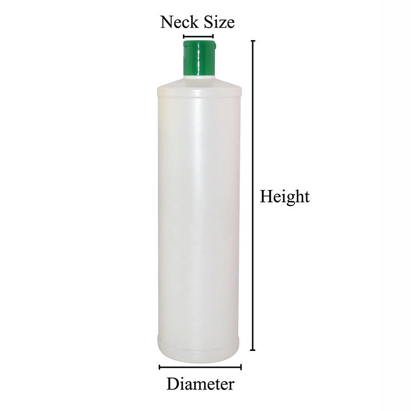 500ml and 900ml Cylinder White Empty Plastic PE Bottle With Customized Printing With Caps+CPPE00RSS03302405200065YM