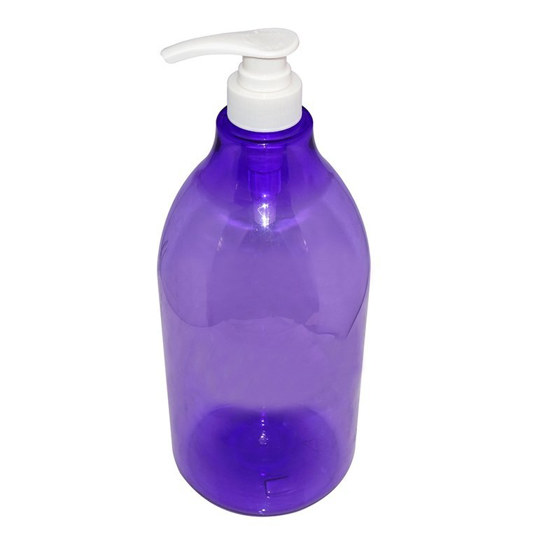 Custom big capacity empty plastic PET shampoo bottle for personal care+CPPET0RBT029028052400078YM