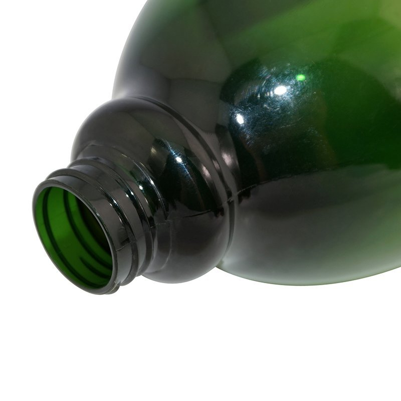 Big round green plastic PET Spray bottle with label for personal care +CPPET0RBT025024021200120YM