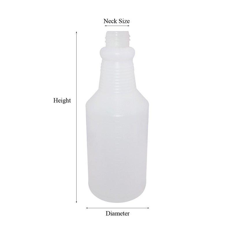 Engraving HDPE Detergent plastic bottle with trigger+CPPE00RSS080028102200078XN