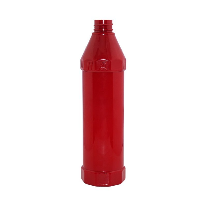Red plastic PET engraving dispenser bottle with trigger  +CPPET0RSS042028053000141YM