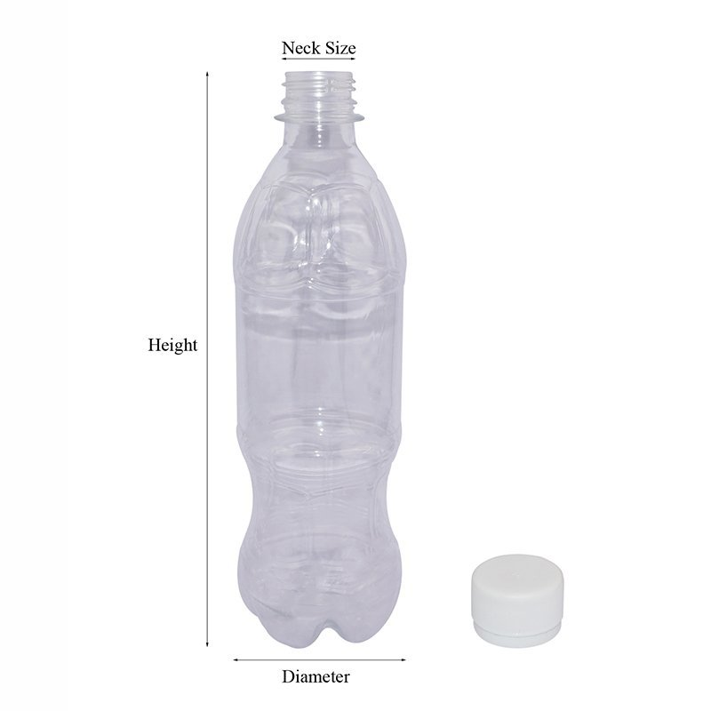 500ml transparent plastic water bottle with tamper proof for carbonated drinks+CPPET0SQT022028051100175FYD