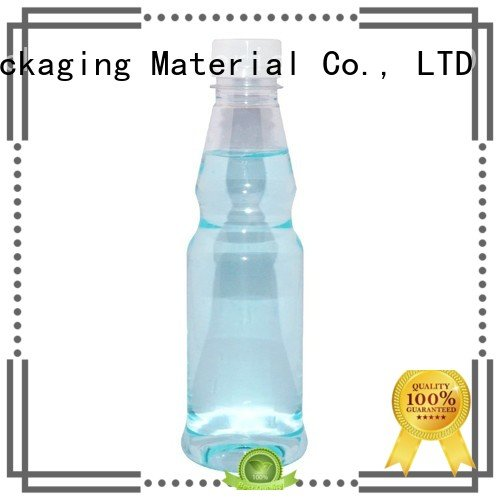 plastic 329ml Maker Brand orange juice bottle