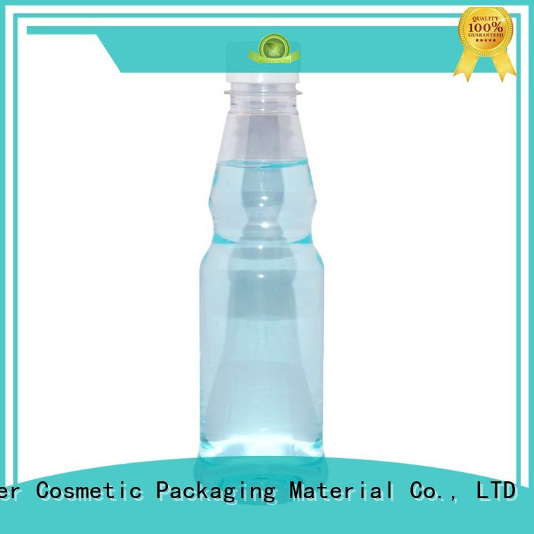Maker Brand long grade orange juice bottle plastic