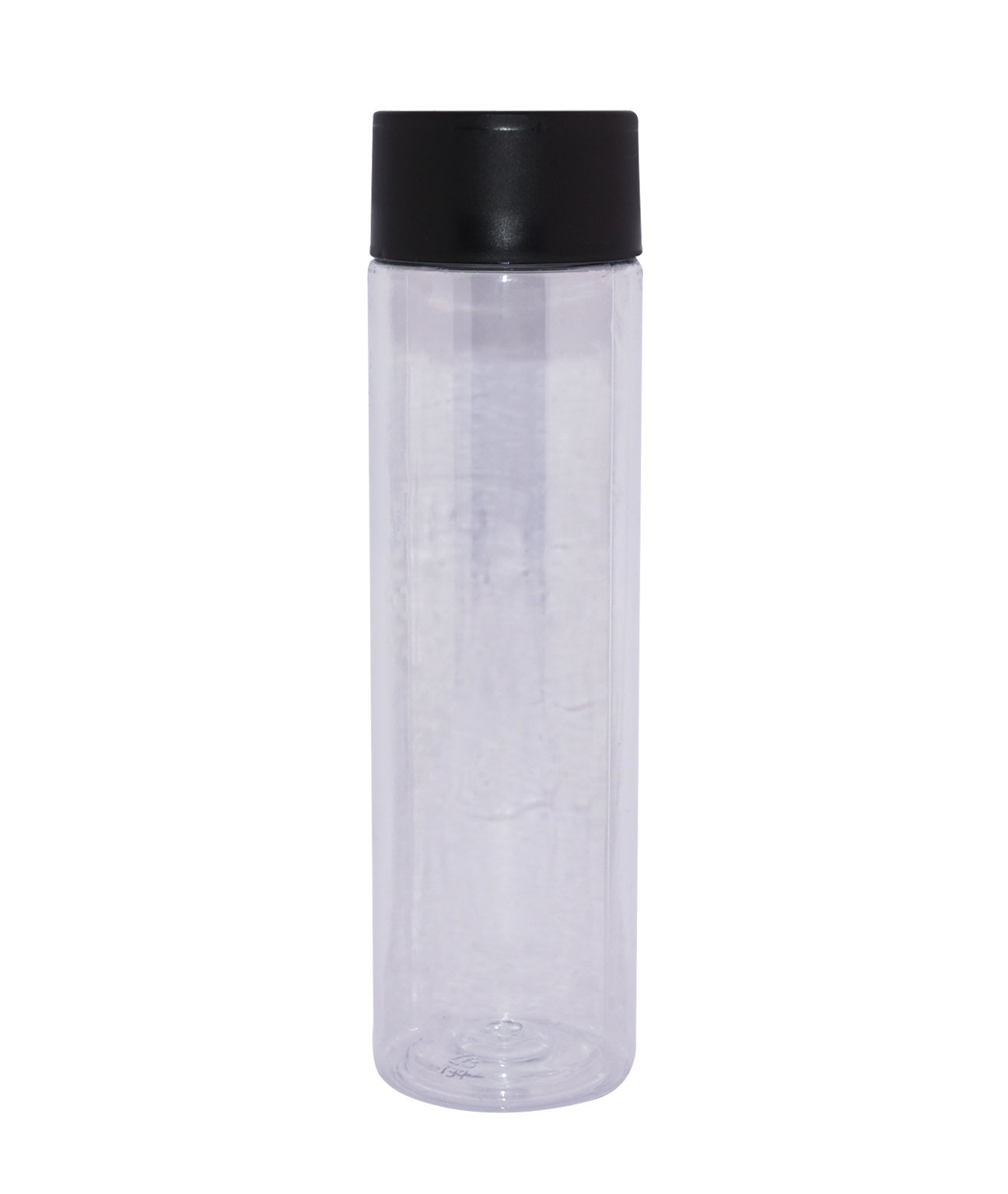 Cylinder PET plastic beverage bottle with double walls cap