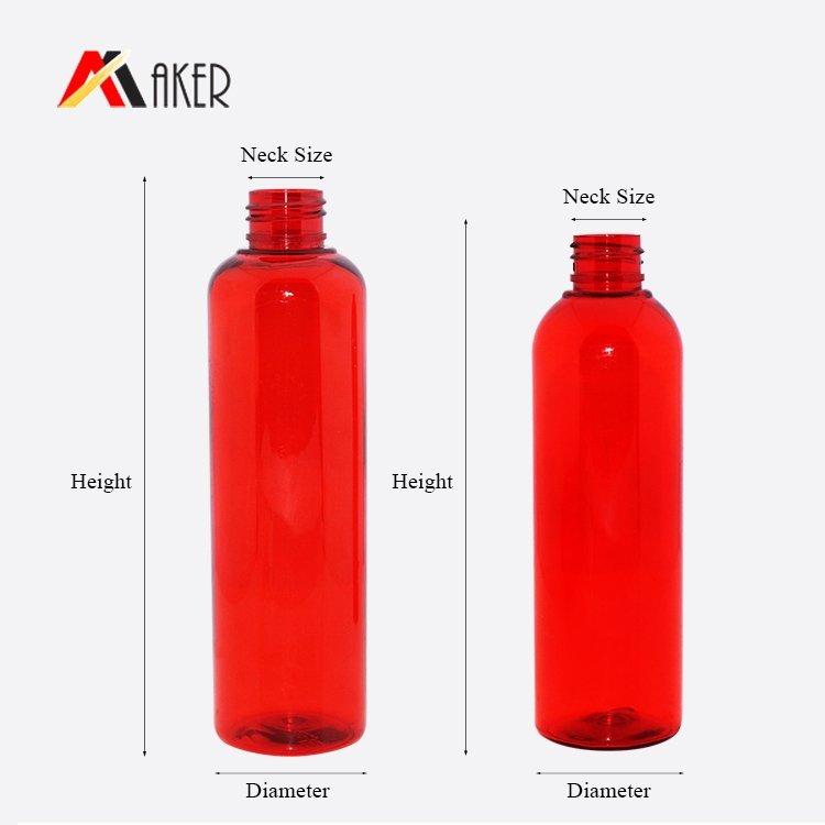wholesale 100ml 200ml custom empty plastic PET round cosmetic spray bottle with mist sprayer