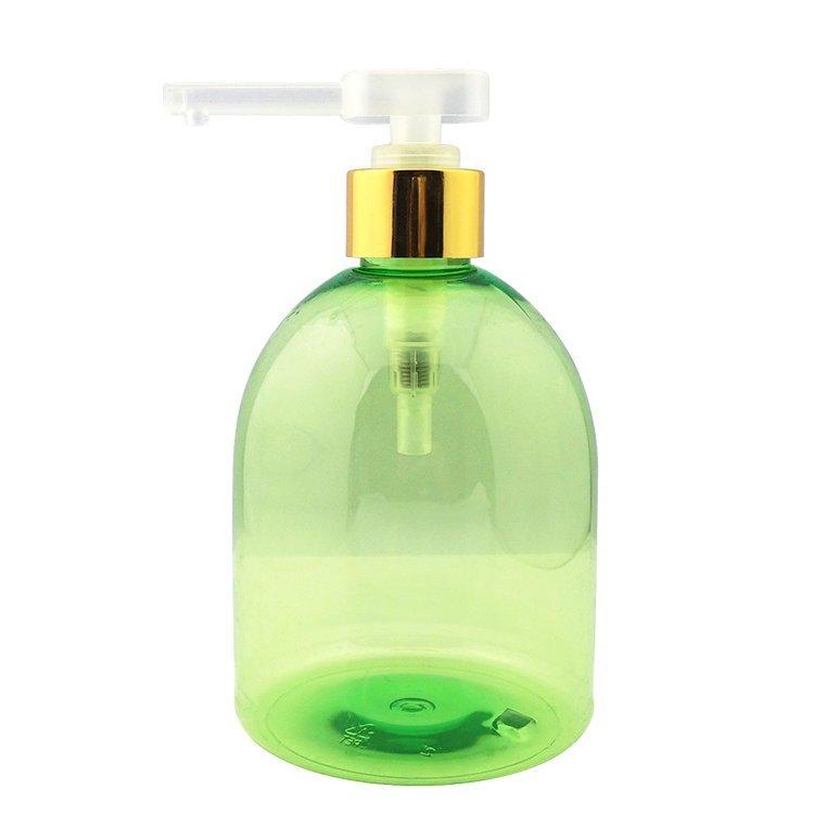 Luxury custom design 500ml empty round pet plastic hand wash pump bottles wholesale