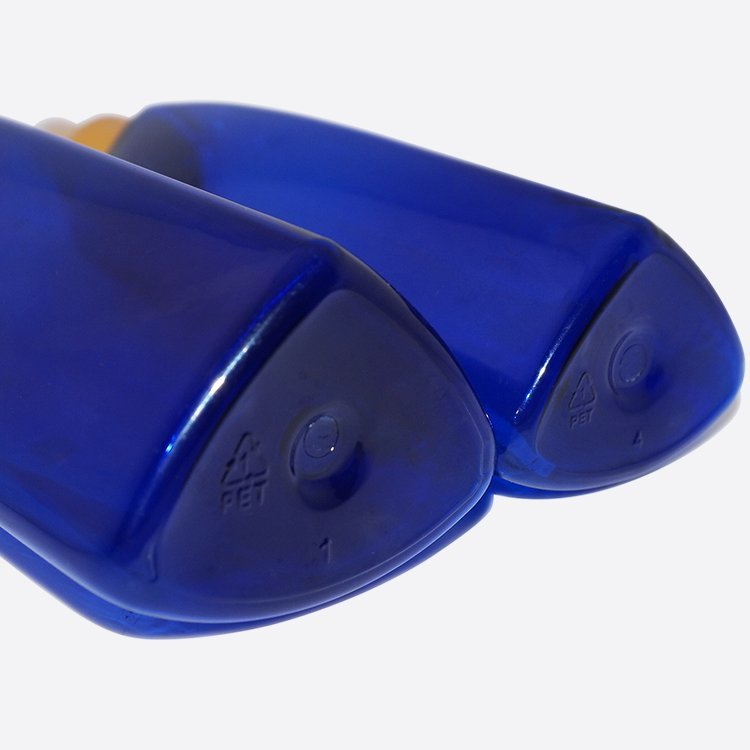 China wholesale 150ml 200ml blue plastic PET cosmetic facial toner pump sprayer bottle supplier