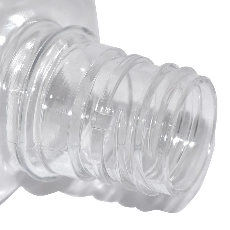 China manufacturer 400 ml clear PET plastic cosmetic mouth wash bottle with plastic screw cap wholesale