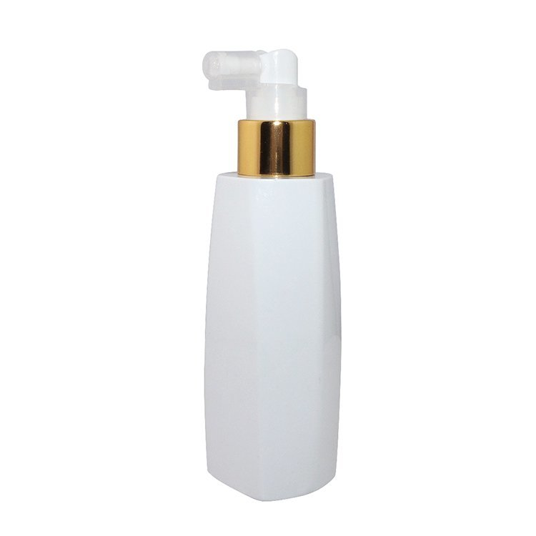 150ml Wholesale white square PET plastic cosmetic empty cream bottle with mist sprayer supplier