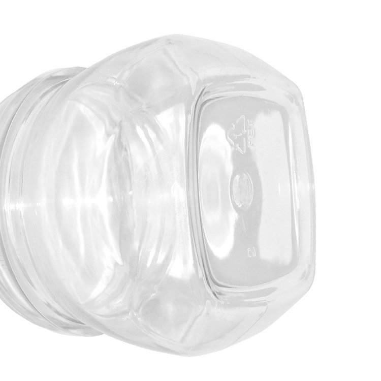 Best price 150ml 180ml plastic clear PET cosmetic cream jar wholesale with lid