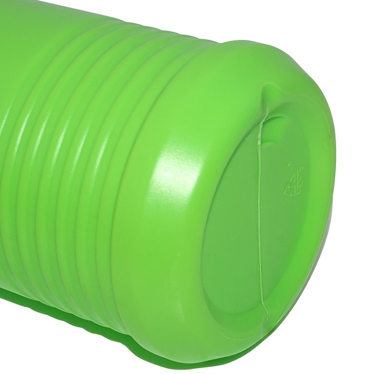 800ml green PE plastic empty liquid detergent bottle manufacturer with screw cap