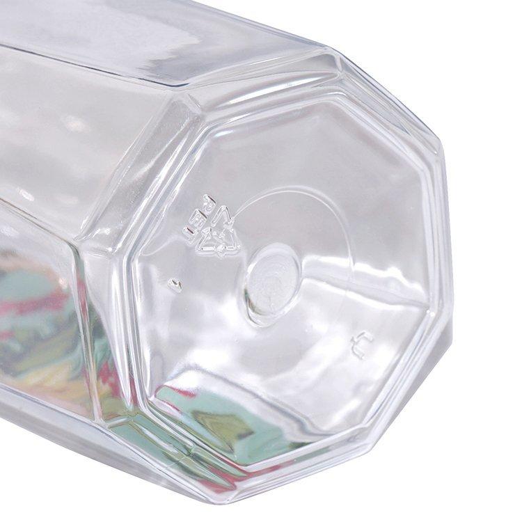 Factory wholesale 350ml transparent cosmetic PET plastic shower gel bottle with lotion pump