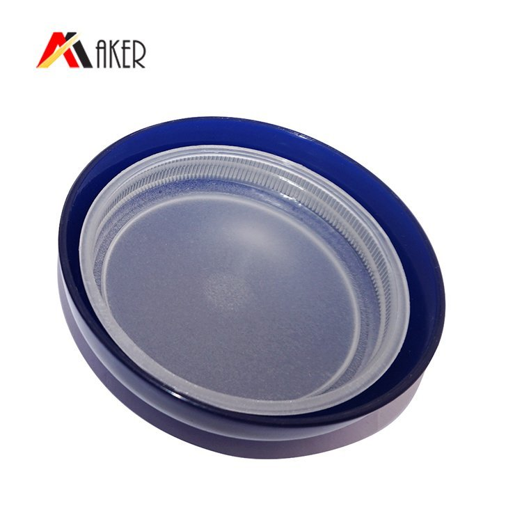 China supplier 300ml container round clear cosmetic PET plastic empty cream jar with lid