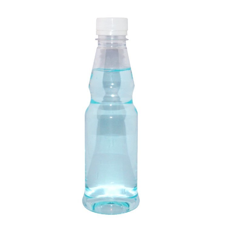 BPA free factory wholesale 300ml empty transparent PET plastic juice bottle with tamper proof cap