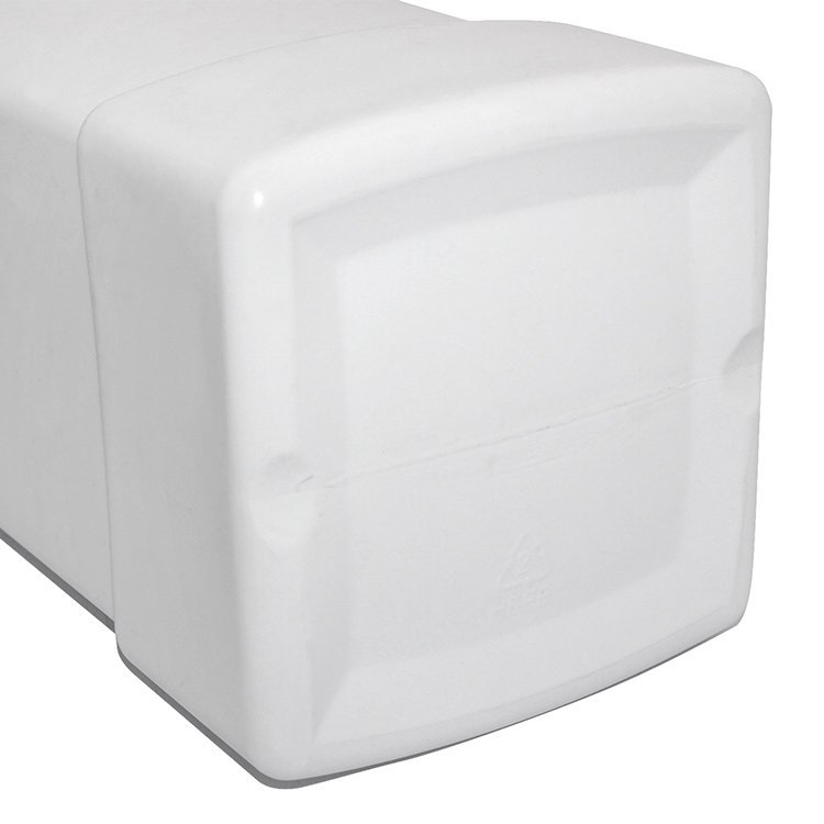 1000ml Empty white square HDPE detergent bottle wholesale with screw cap for household