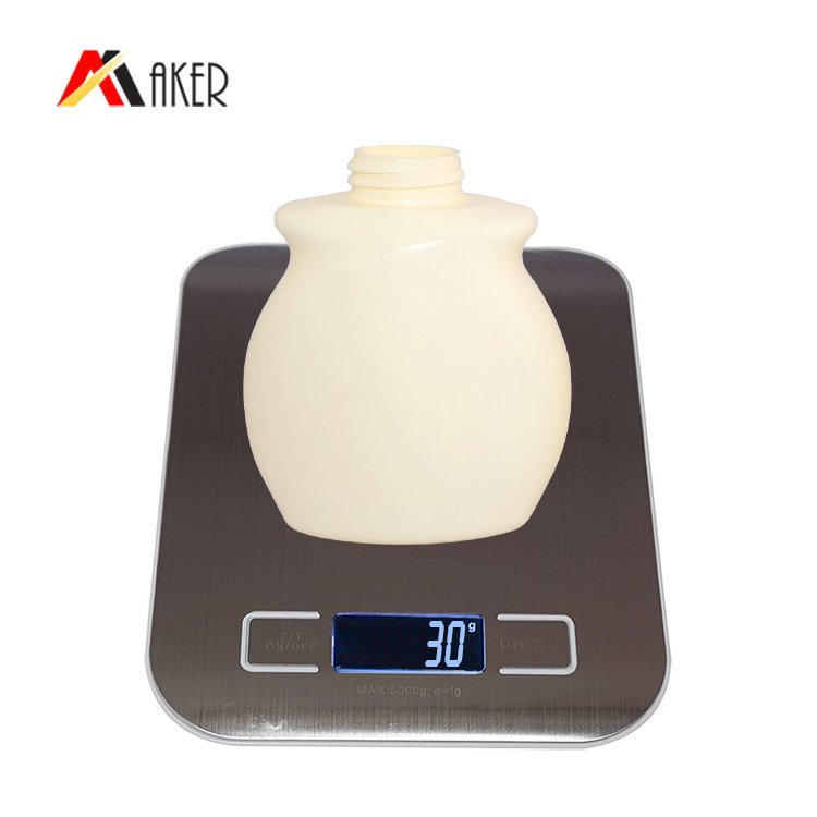 China wholesale price 250ml 300ml beige round H D P E plastic hand sanitizer bottle with lotion pump
