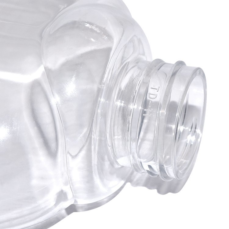 Cheap price 450ml clear PET plastic empty shower gel bottle with lotion pump for wholesale