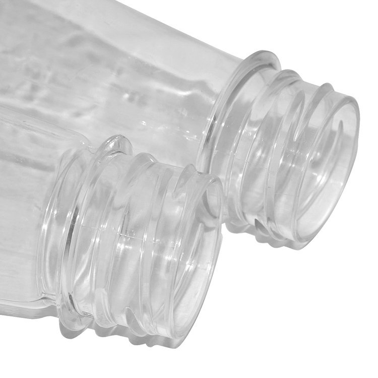 Best price 250ml 500ml clear cone shape plastic PET soda water mineral drinking water  bottle with cap