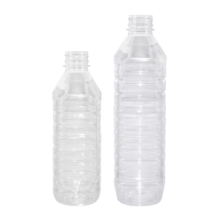 Cheap wholesale 450ml 600ml clear square PET plastic drinking water bottles with  tamper-proof cap