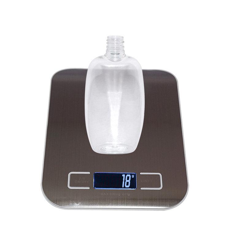 150ml wholesale empty clear flat shape cosmetic PET plastic baby kids shampoo bottle with flip top cap