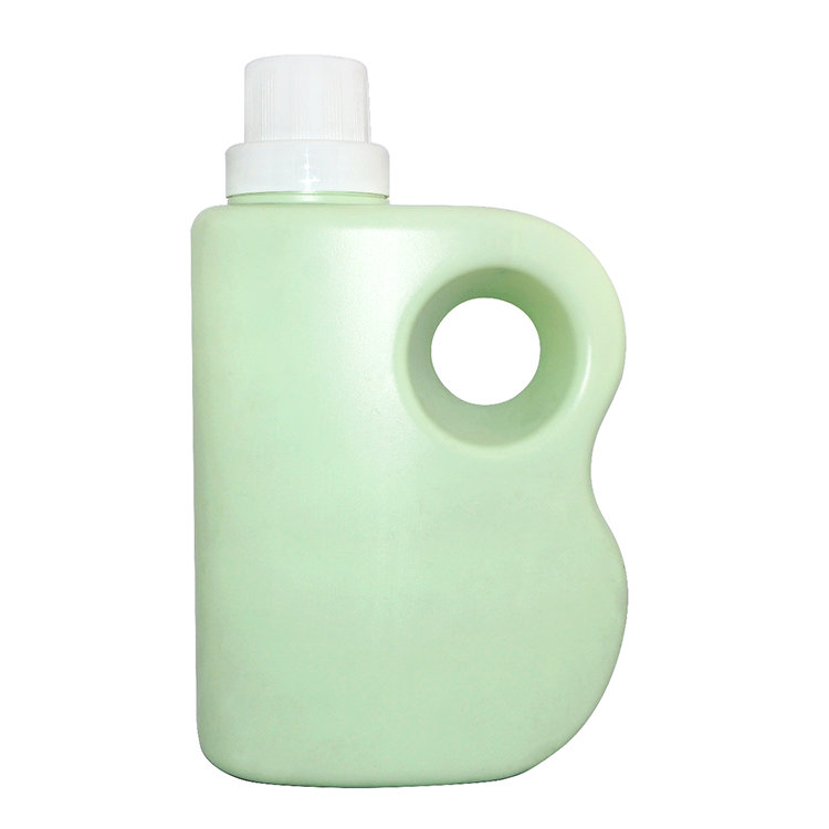 Hot selling 2000ml big capacity HDPE laundry detergent plastic bottle with screw cap for family applies