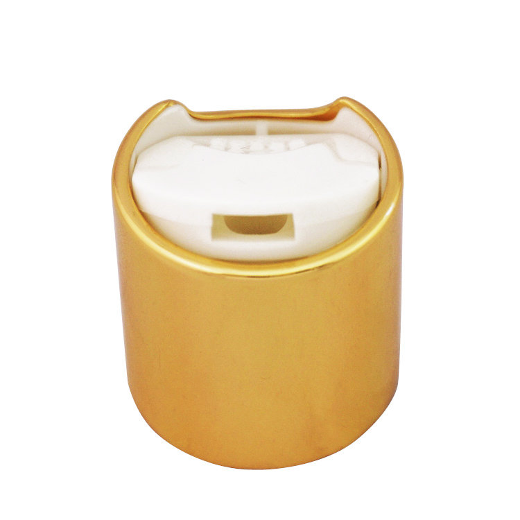Wholesale price 100ml flat shape HDPE plastic cosmetic lotion bottle with gold aluminum covered disc cap