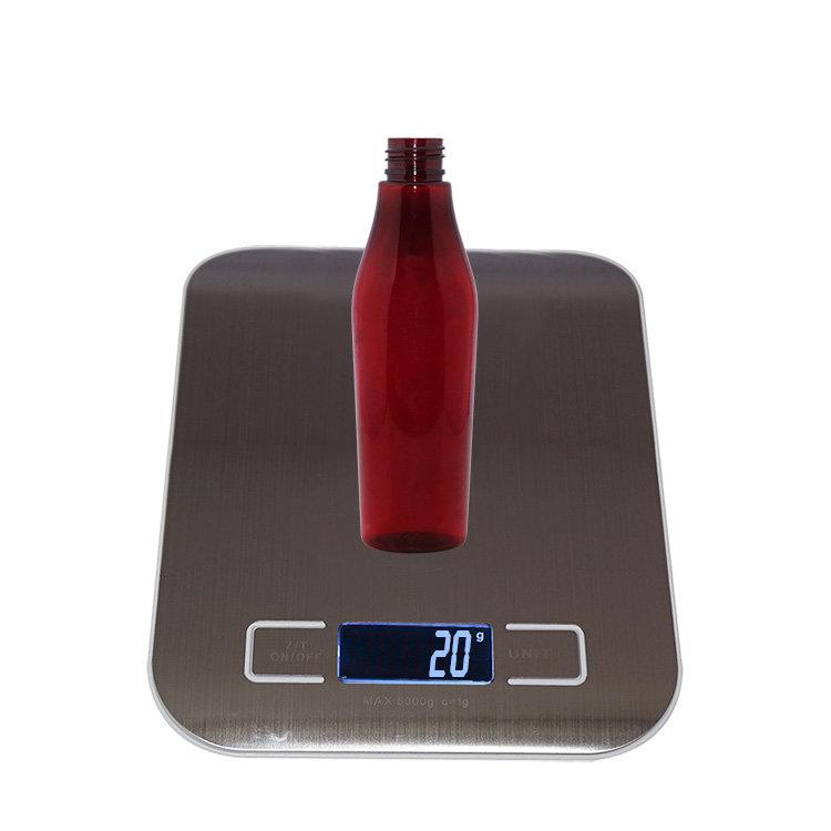 New design 150ml empty half round shape red PET plastic cosmetic spray bottle with mist sprayer