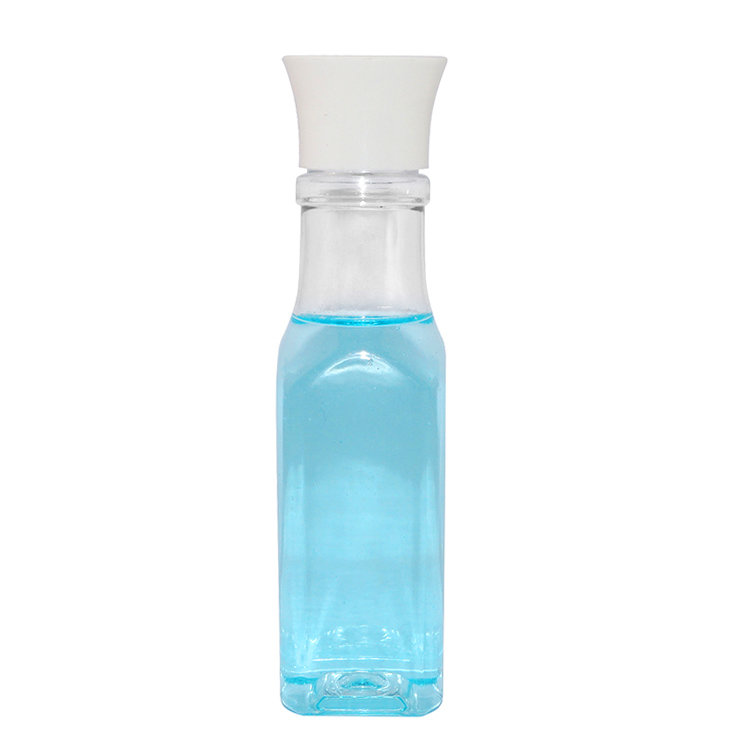 Wholesale price 100ml clear square PET cosmetic lotion plastic bottle supplier with screw cap