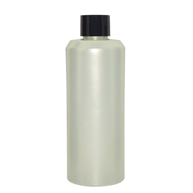 Hot selling empty 200ml custom color cylinder shape plastic PET cosmetic body lotion bottle with screw cap