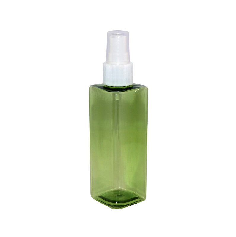 Square PET cream bottle with sprayer pump and screw cap for daily personal care+CPPET0RBT022024017000019YM