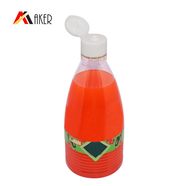 Wholesale price 550ml 700ml custom new design empty PET plastic bottle with flip top cap