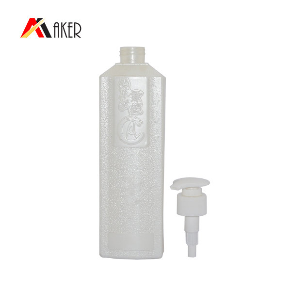 750ml Square Plastic Shampoo Bottles With Pump Dispenser