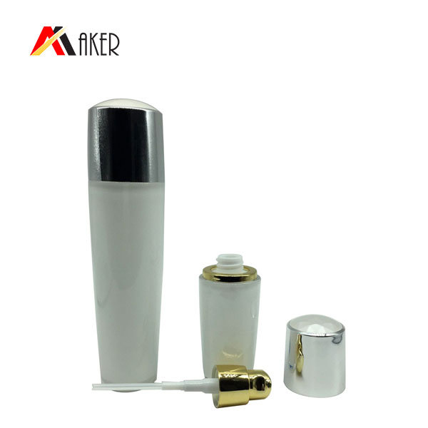 100ml plating luxury cosmetic acrylic bottle with airless pump