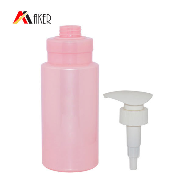 800ml plastic shampoo bottle new round pet plastic hair care container shampoo bottles with lotion pump