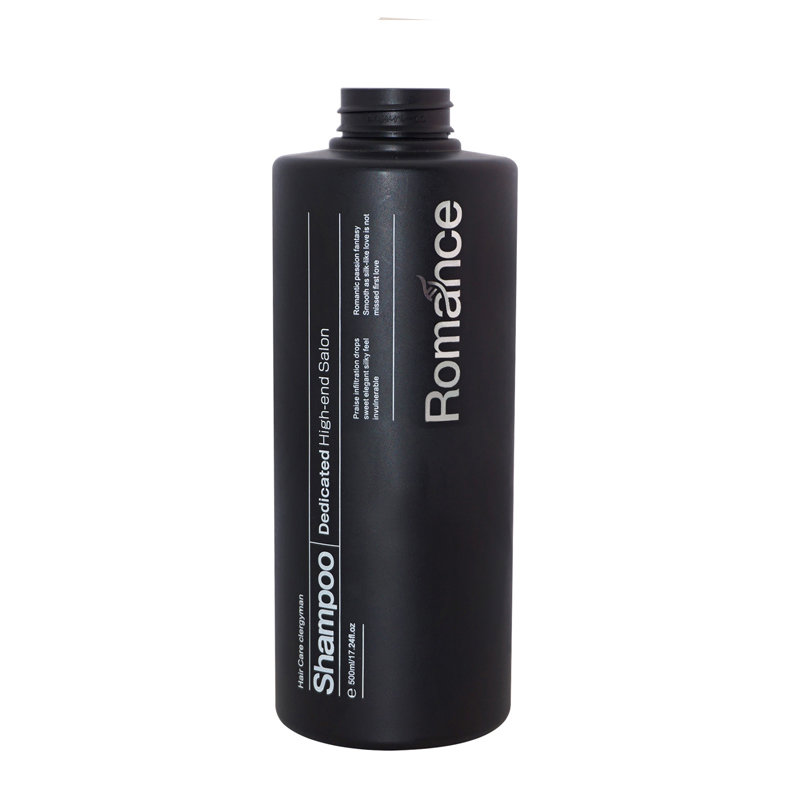 500ml black pet plastic bottle hot selling cylinder empry shampoo plastic bottle with lotion