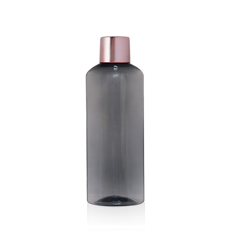 New arrival 100ml cosmetic cream bottle semi-transparent black PET plastic lotion bottle with screw cap