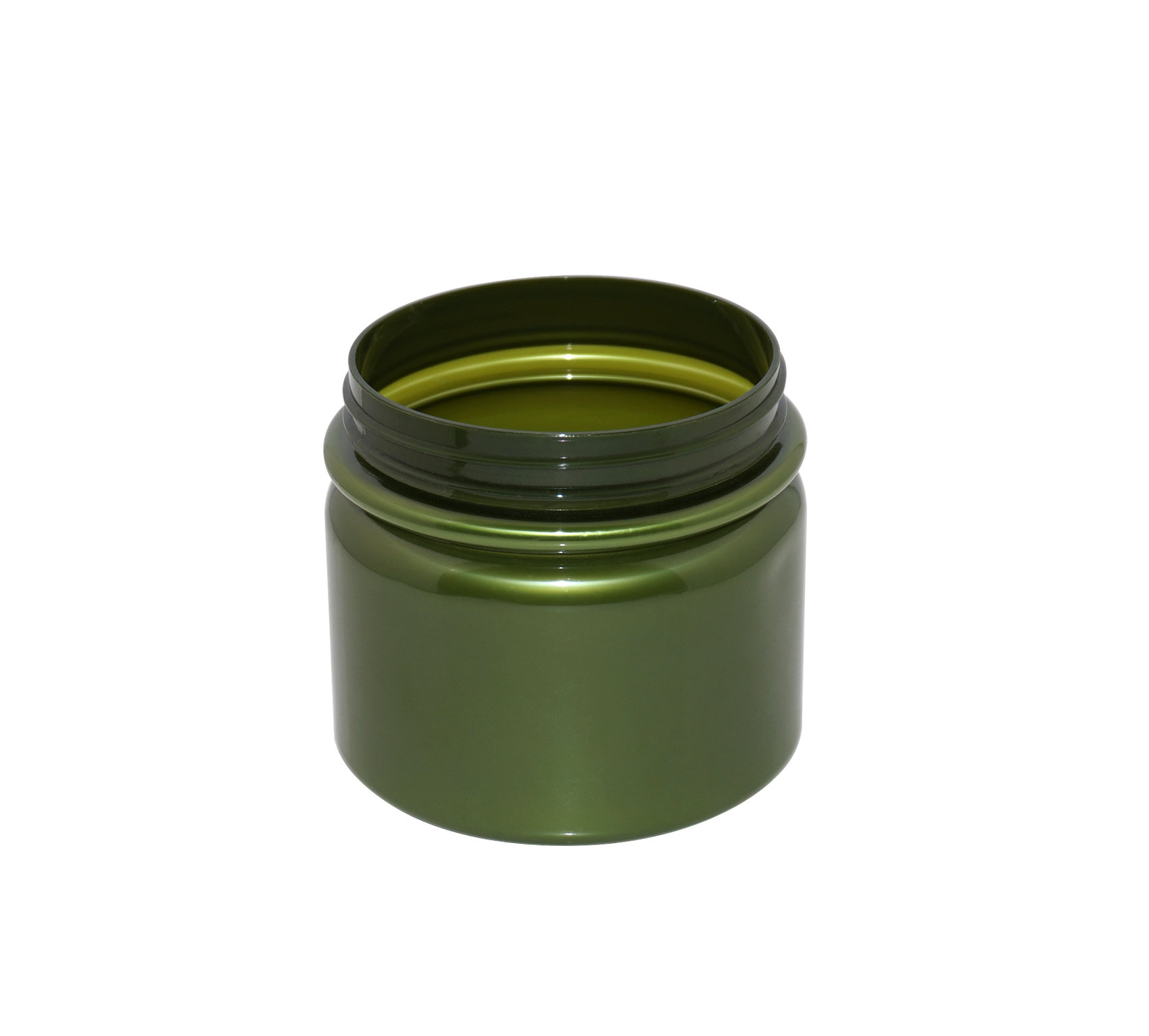 Empty 500ml plastic PET jar large opaque green cosmetic cream jar with aluminum cap or plastic cap