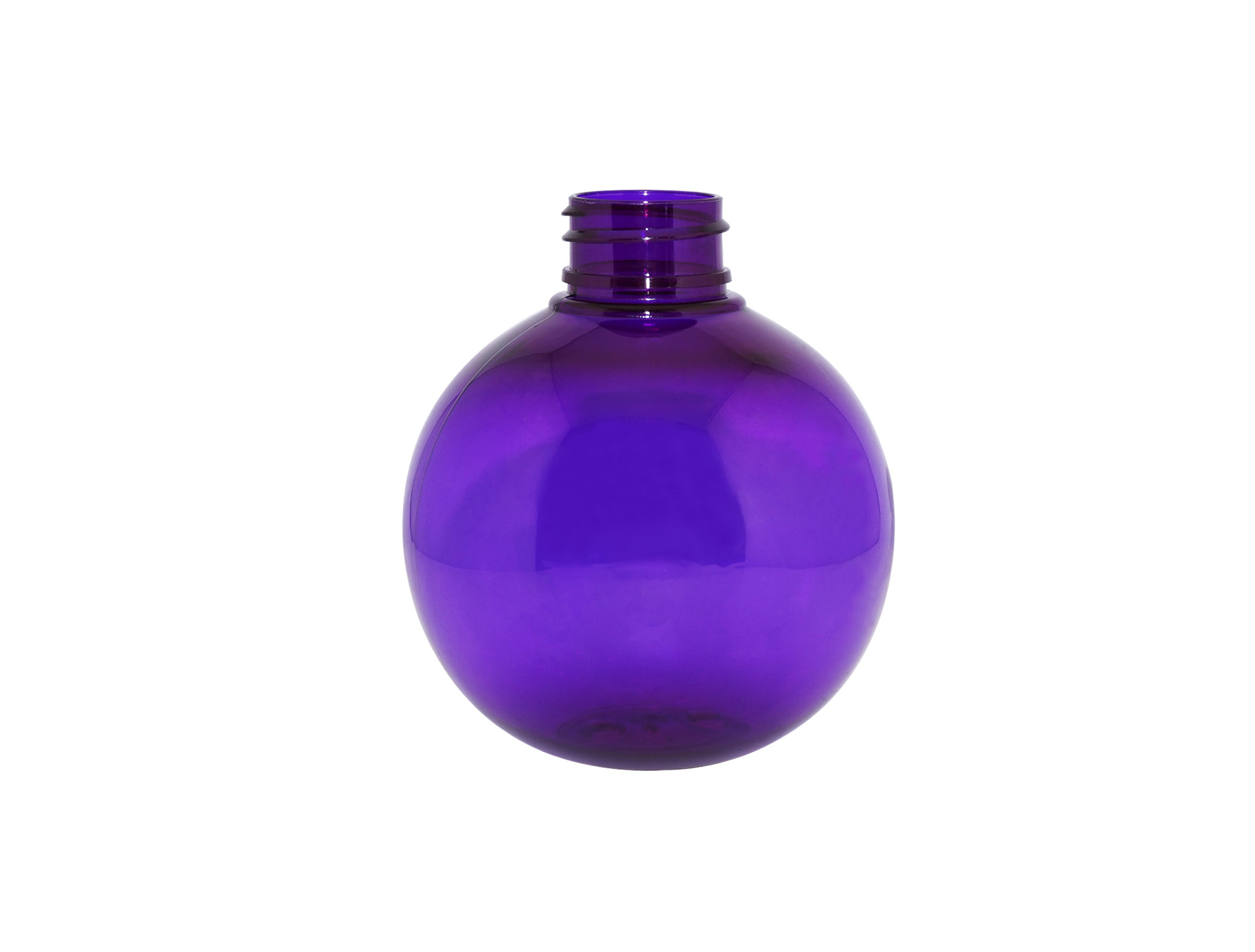 Wholesale price 250ml plastic lotion bottle semi-transparent purple ball shaped PET plastic cream packaging