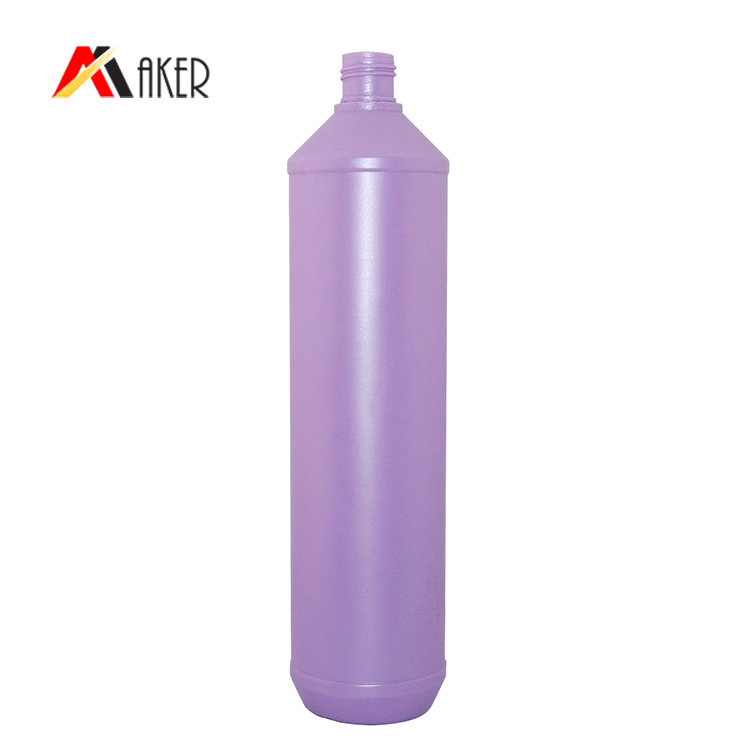 800ml HDPE plastic dish washing bottle wholesale empty purple round detergent bottle with flip top cap