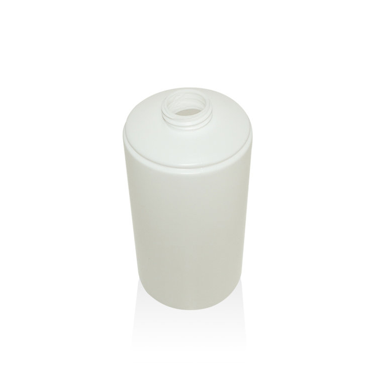 New sample factory price 300ml 450ml 550ml white cylinder PE plastic body lotion shampoo bottle with pump and cap