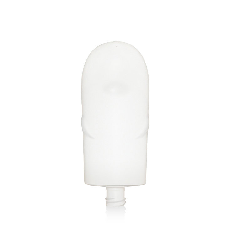New unique design oval white 130ml empty PE plastic cosmetic sunscreen lotion bottle with flip top cap