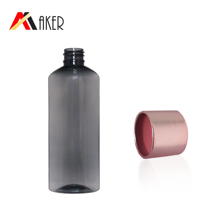 New arrival 100ml semi-transparent black PET cossmetic cream plastic lotion bottle with screw cap
