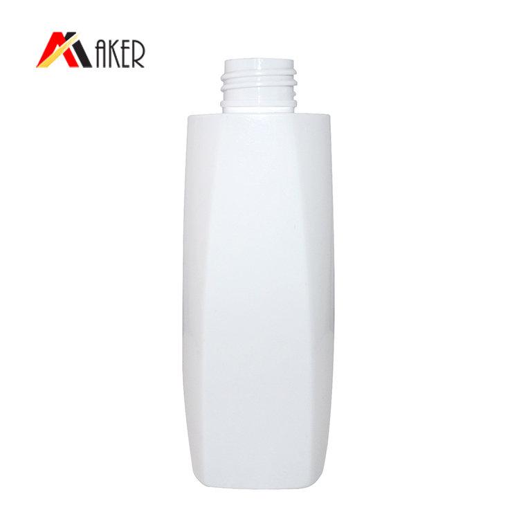 square plastic PET bottle supplier 150ml wholesale white empty cosmetic cream bottle with pump sprayer