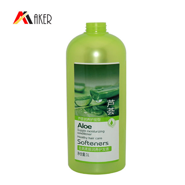 Best price shampoo bottle 1100ml green Boston round PET plastic bottle for shampoo with lotion pump